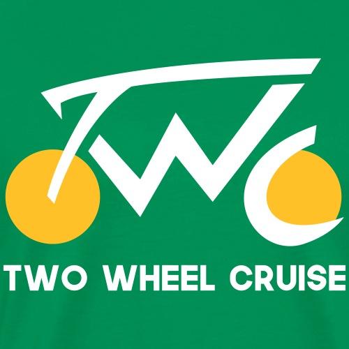 Two Wheel Cruise (white text) - Men's Premium T-Shirt