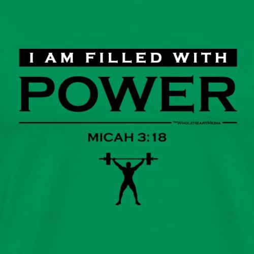 Power Filled (logo) - Christian Fitness Apparel - Men's Premium T-Shirt