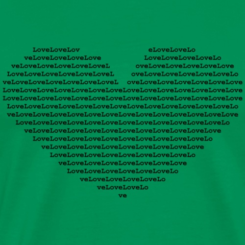 Isle of black Ascii Heart - Men's Premium T-Shirt