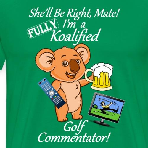 Golf Commentator - White Letters - Men's Premium T-Shirt