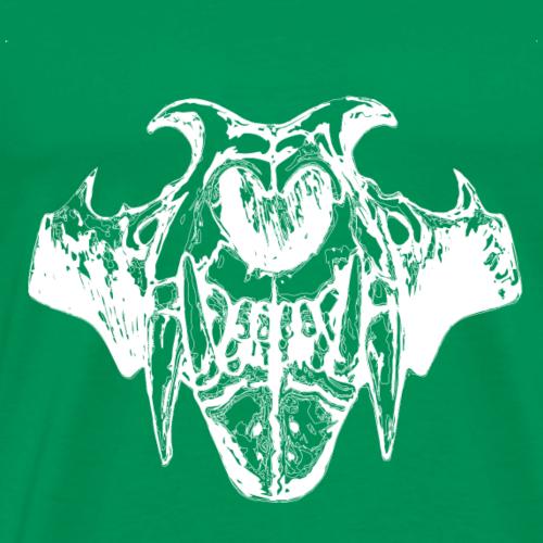 White Skull Animal Graphic - Men's Premium T-Shirt