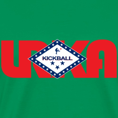 arkansas flag LRKA NON-DISTRESSED - Men's Premium T-Shirt