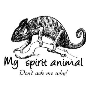 Chameleon My spirit animal - Men's Premium T-Shirt