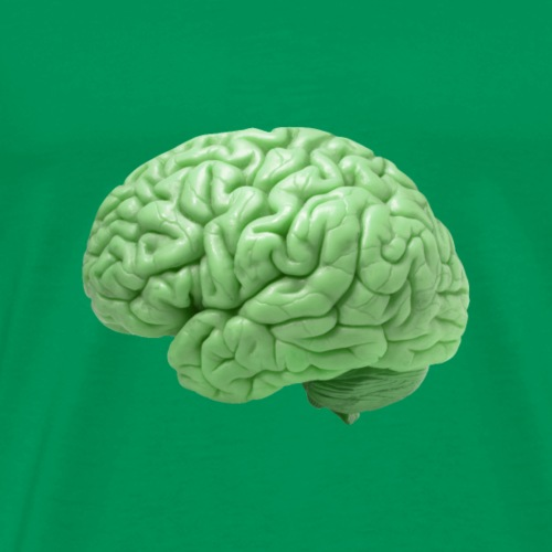 Brain, green - Men's Premium T-Shirt