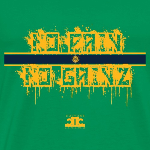 No Pain No Gainz Yellow - Men's Premium T-Shirt