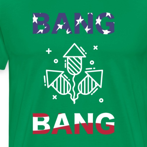 Bang bang American freedom USA 4th of July - Men's Premium T-Shirt
