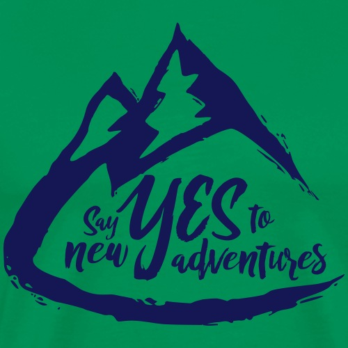 Say Yes to Adventure - Dark - Men's Premium T-Shirt