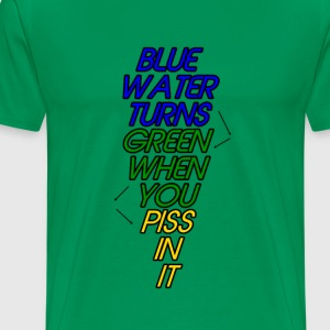Blue Water Turns Green - Men's Premium T-Shirt