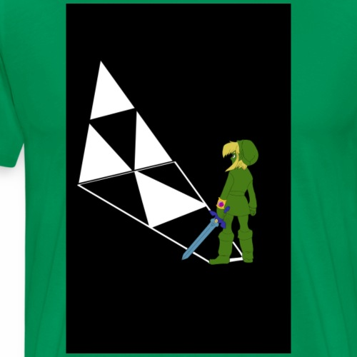 Legend of Zelda Link print T's - Men's Premium T-Shirt