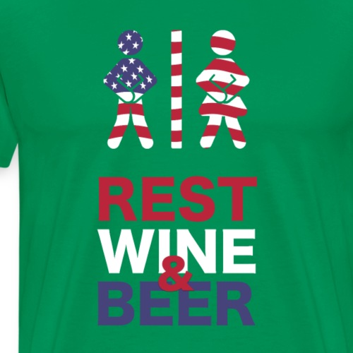 Rest wine beer American freedom 4th of July - Men's Premium T-Shirt