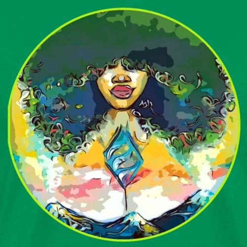 Women Of Nature Curly Afro Natural Hair - Men's Premium T-Shirt