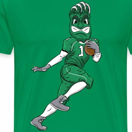 custom green wave mascot football - Men's Premium T-Shirt