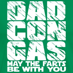 Dad Con Gas - may the fart be with you - Men's Premium T-Shirt