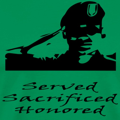 Army Served Sacrificed Honored - Men's Premium T-Shirt