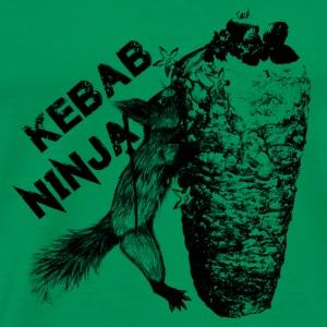 Kebab Ninja Squirrel - Men's Premium T-Shirt