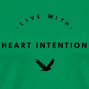 Black Live with Heart Intention with Bird - Men's Premium T-Shirt