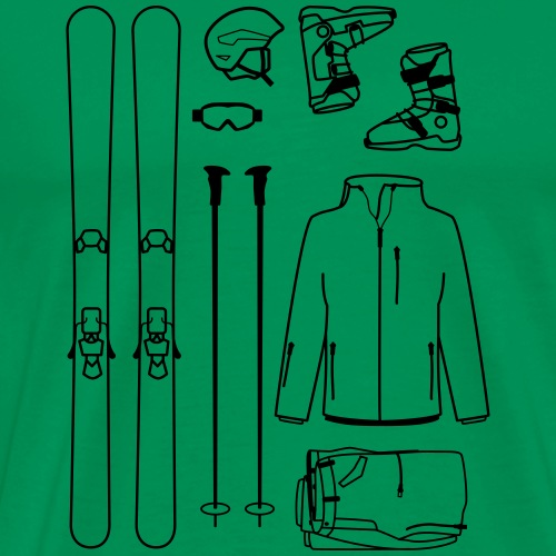 Skiequipment - Men's Premium T-Shirt