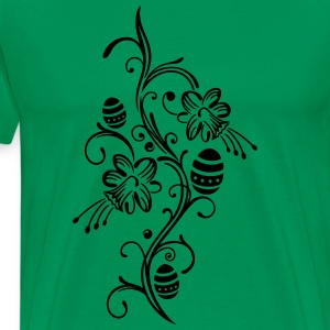 Happy Easter. Easter Eggs with Daffodils Flower. - Men's Premium T-Shirt