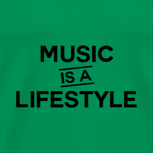 Music is a Lifestyle Design - Men's Premium T-Shirt