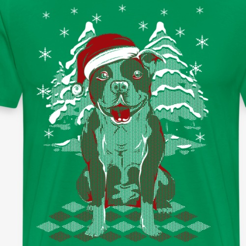 Santa pitbull - Men's Premium T-Shirt