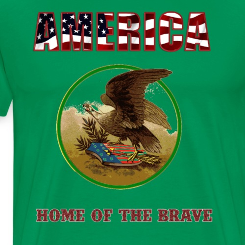 Home of the Free - America - Men's Premium T-Shirt