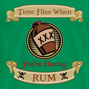 Time Flies when you're Having Rum! - Men's Premium T-Shirt
