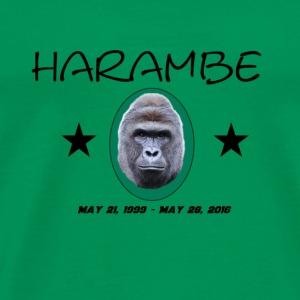 Rip Harambe Emblem - Men's Premium T-Shirt