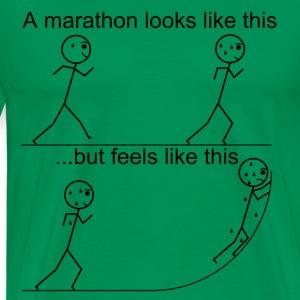A marathon does not feel like it looks. - Men's Premium T-Shirt
