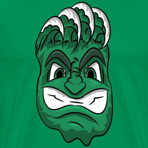 custom green wave mascot head - Men's Premium T-Shirt