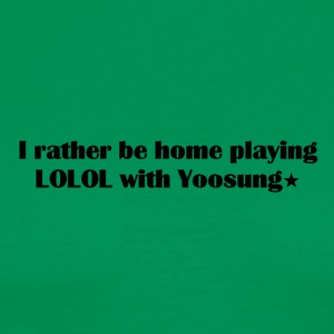 Home playing LOLOL with Yoosung - Men's Premium T-Shirt