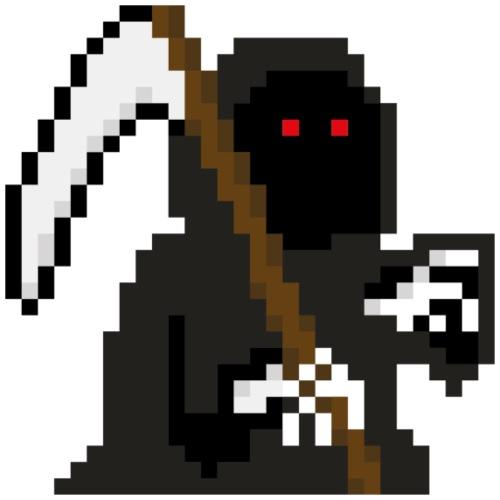 PixelArt Grim Reaper - Men's Premium T-Shirt