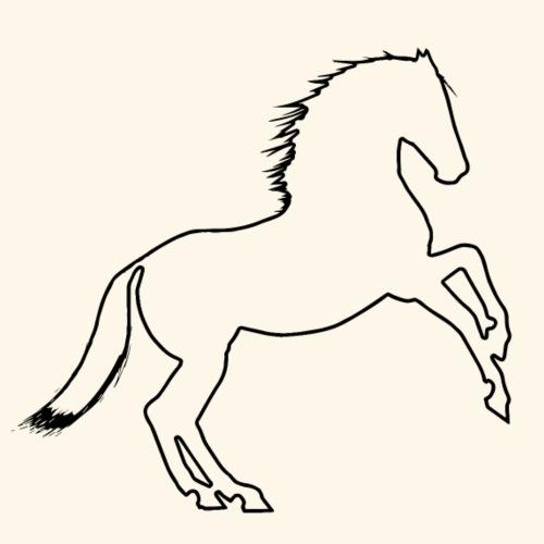 Horse Silhouette - Men's Premium T-Shirt