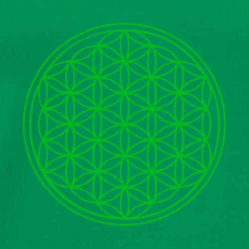 flower of life green - Men's Premium T-Shirt