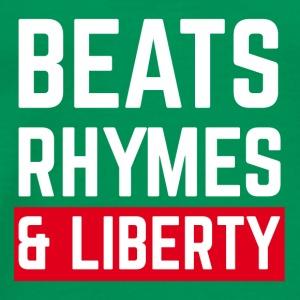 Beats, Rhymes and Liberty (white) - Men's Premium T-Shirt