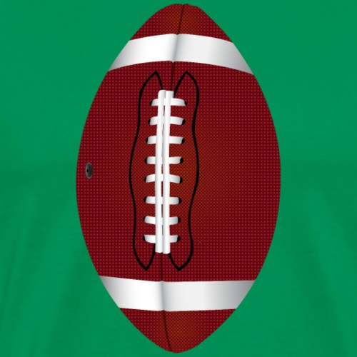 Football pigskin illustration design - Men's Premium T-Shirt