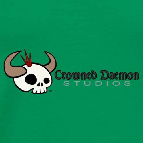 Crowned Daemon Studios Logo - Dark - Men's Premium T-Shirt