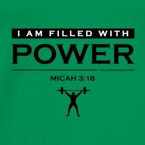 Power Filled (logo) - Christian Fitness Apparel - Men's Premium T-Shirt