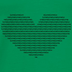 Isle of black Ascii Heart - Men's Premium T-Shirt