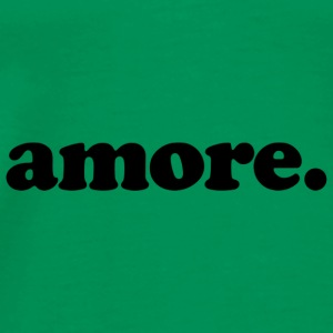 Amore - Fun Design (Black Letters) - Men's Premium T-Shirt