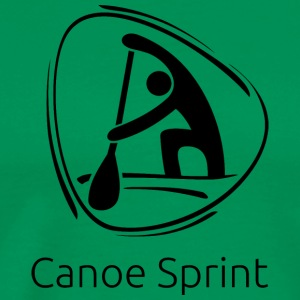 Canoe_sprint_black - Men's Premium T-Shirt