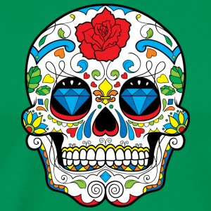 sugar_skull_with_rose - Men's Premium T-Shirt