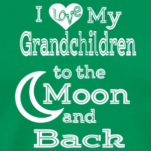 I Love My Grandchildren To The Moon And Back Shirt - Men's Premium T-Shirt