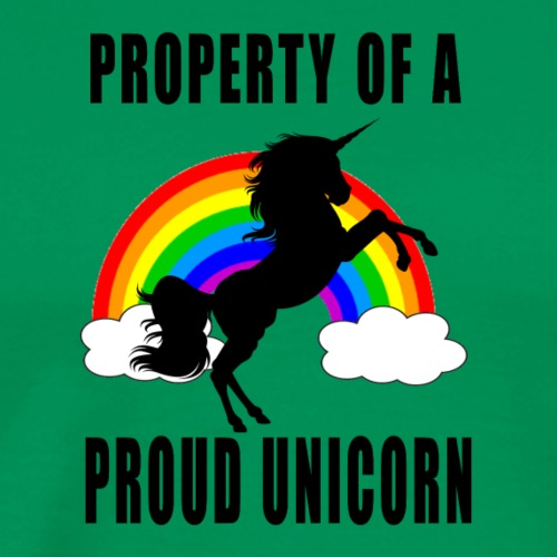 Property of a unicorn rainbow colourful products - Men's Premium T-Shirt