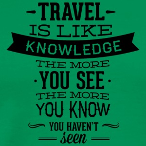 travel_like_knowledge - Men's Premium T-Shirt