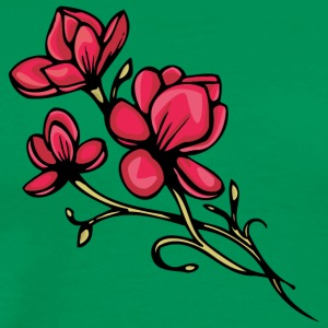 red_flowers - Men's Premium T-Shirt