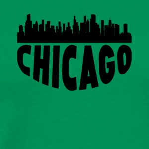 Chicago IL Cityscape Skyline - Men's Premium T-Shirt