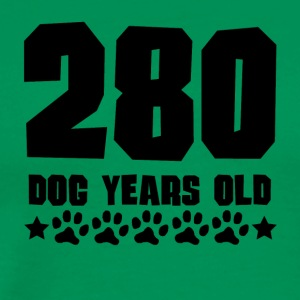 280 Dog Years Old Funny 40th Birthday - Men's Premium T-Shirt