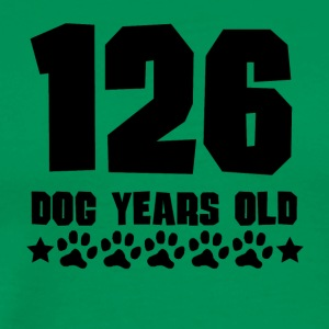 126 Dog Years Old Funny 18th Birthday - Men's Premium T-Shirt