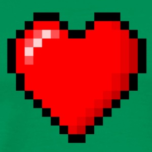 pixeled heart - Men's Premium T-Shirt