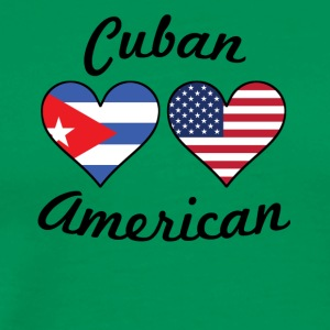 Cuban American Flag Hearts - Men's Premium T-Shirt